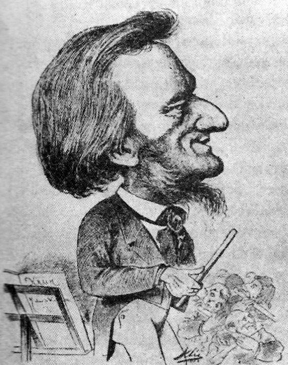 Caricature of Wagner by Karl Clic