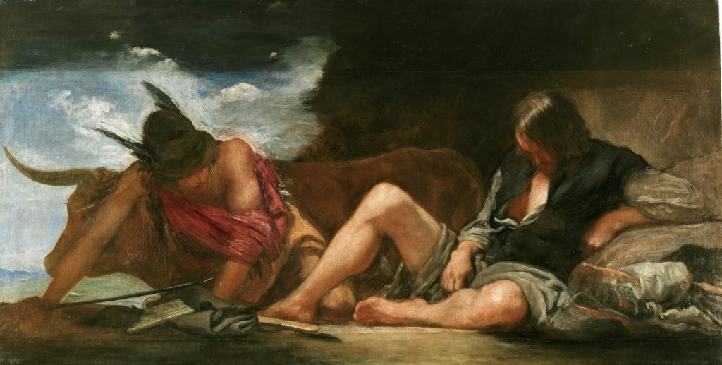 Velázquez renders the theme of stealth and murder in modern dress, 1659 (Prado)